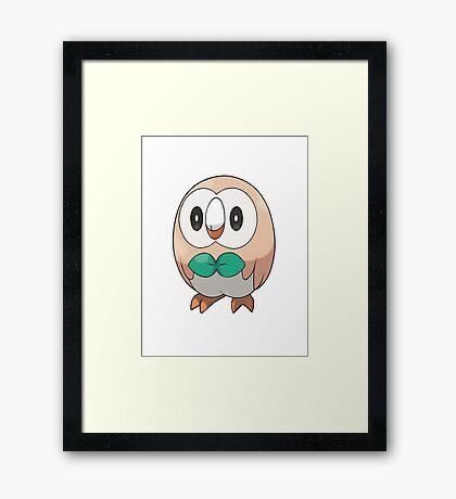 Rowlet New Pokemon (Pokemon Sun and moon) Framed Print