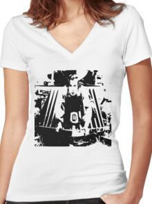 Buster Keaton Women's Fitted V-Neck T-Shirt