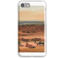 Boris Dmitrievich Grigoriev (Moscow - Cagnes-sur-Mer, France ), Cattle at Rest iPhone Case/Skin