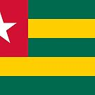 Togo Flag Stickers by Mark Podger