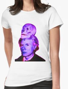 Mortality of Andy Warhol Womens Fitted T-Shirt