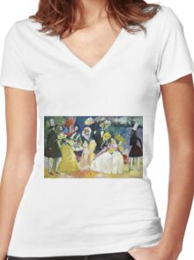Kandinsky - Group In Crinolines Women's Fitted V-Neck T-Shirt