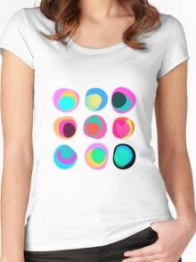 Points of view white Women's Fitted Scoop T-Shirt