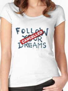 Banksy - Follow your dreams (part) Women's Fitted Scoop T-Shirt