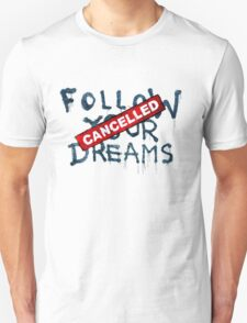 Banksy - Follow your dreams (part) Unisex T-Shirt