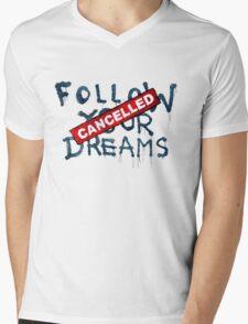 Banksy - Follow your dreams (part) Mens V-Neck T-Shirt
