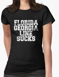 FGL Sucks (White Ink) Womens Fitted T-Shirt