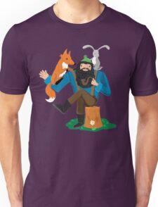happy woodland lumberjack with animal friends Unisex T-Shirt