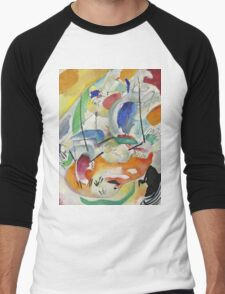 Kandinsky - Improvisation 31 Men's Baseball ¾ T-Shirt