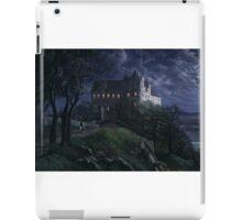 Burg Scharfenberg at Night  by Ernst Ferdinand Oehme iPad Case/Skin