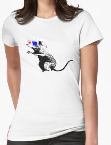 Banksy - 3D Rat Womens Fitted T-Shirt