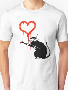 Banksy - Love Rat Unisex T-Shirt