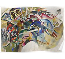 Kandinsky - Painting With White Border Poster