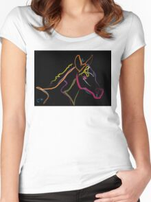 Pillow color foal , filly Women's Fitted Scoop T-Shirt