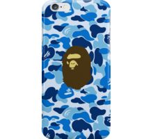 APE WITH BLUE CAMO iPhone Case/Skin