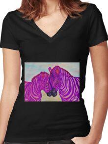 Zazzle Women's Fitted V-Neck T-Shirt