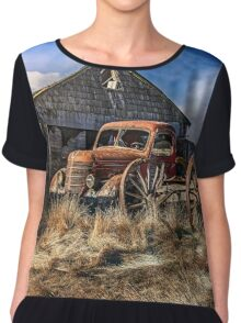 Old Wheels     Chiffon Top