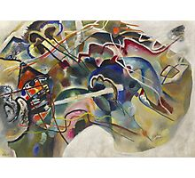 Kandinsky - Painting With White Border Moscow Photographic Print