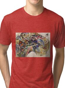 Kandinsky - Painting With White Border Moscow Tri-blend T-Shirt