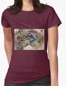 Kandinsky - Painting With White Border Moscow Womens Fitted T-Shirt
