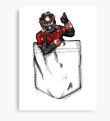 Ant Man in Pocket Canvas Print