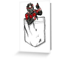 Ant Man in Pocket Greeting Card