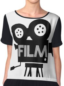FILM - CAMERA Chiffon Top