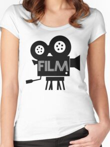 FILM - CAMERA Women's Fitted Scoop T-Shirt