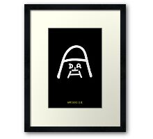 Darth Vader – Name To A Face Framed Print