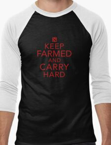 Keep Farmed and Carry Hard | Red Men's Baseball ¾ T-Shirt