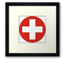 Roundel of the Swiss Air Force Framed Print