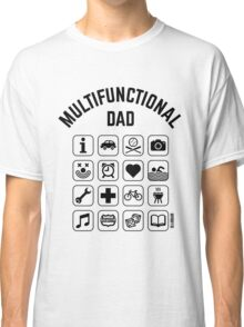 Multifunctional Dad (16 Icons) Classic T-Shirt