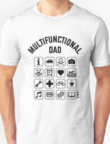 Multifunctional Dad (16 Icons) Unisex T-Shirt