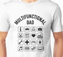 Multifunctional Dad (16 Icons) Unisex T-Shirt