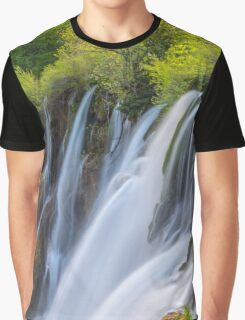Tranquil Waterfall Graphic T-Shirt