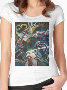 Kandinsky - Sketch I For  Painting With White Border Women's Fitted Scoop T-Shirt