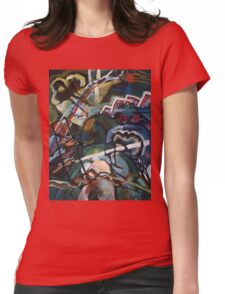 Kandinsky - Sketch I For  Painting With White Border Womens Fitted T-Shirt