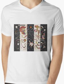 Kandinsky - Striped Mens V-Neck T-Shirt
