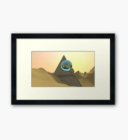 Science Fiction Desert Scene Framed Print