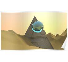 Science Fiction Desert Scene Poster