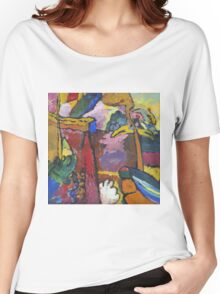 Kandinsky - Study For  Painting With White Border Women's Relaxed Fit T-Shirt