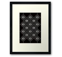 Kaleidoscope Eyes - Black and White Framed Print