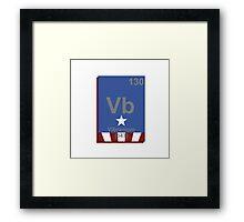 Vibranium Periodic Table Framed Print