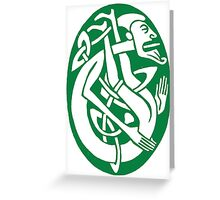 Celtic contortionist Greeting Card