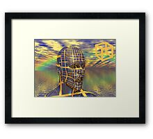 Planet illusion Framed Print