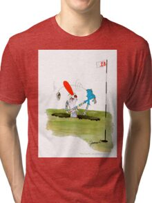 'when in a hole....' - tony fernandes Tri-blend T-Shirt
