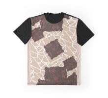 Abstract Rose Pattern Graphic T-Shirt