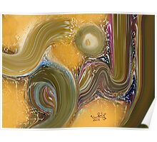 """An Noor""Allah Names Abstract Art Modern Painting Poster"
