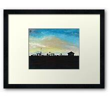 West Hill Playground at Dusk Framed Print
