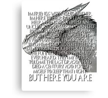 Tyrion Lannister Game Thrones GOT Imp Dragon Speech But Here You Are Canvas Print
